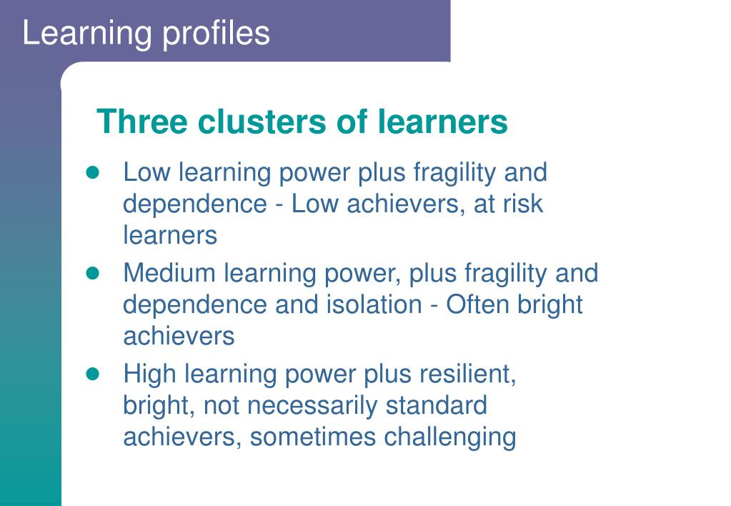 Learning profiles