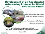 development of an accelerated ash loading protocol for diesel particulate filters