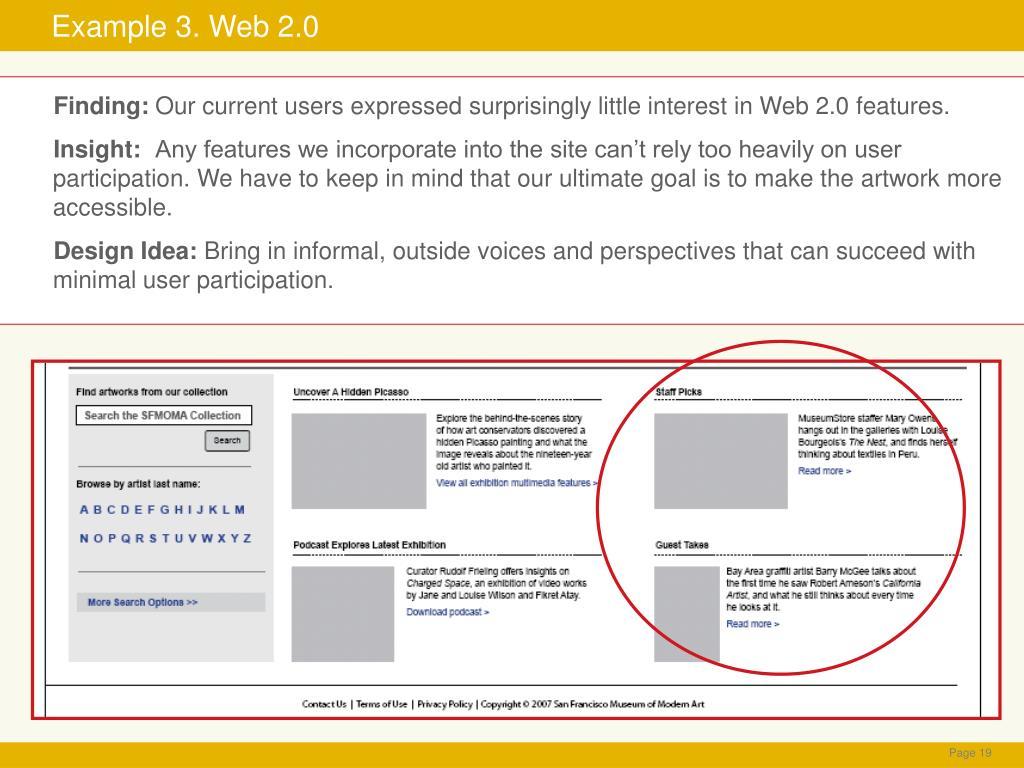 Example 3. Web 2.0