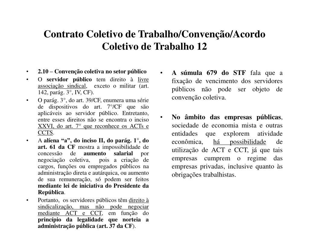 2.10 – Convenção coletiva no setor público