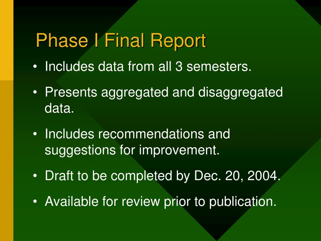 Phase I Final Report