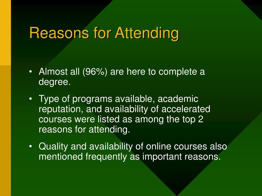 Reasons for Attending