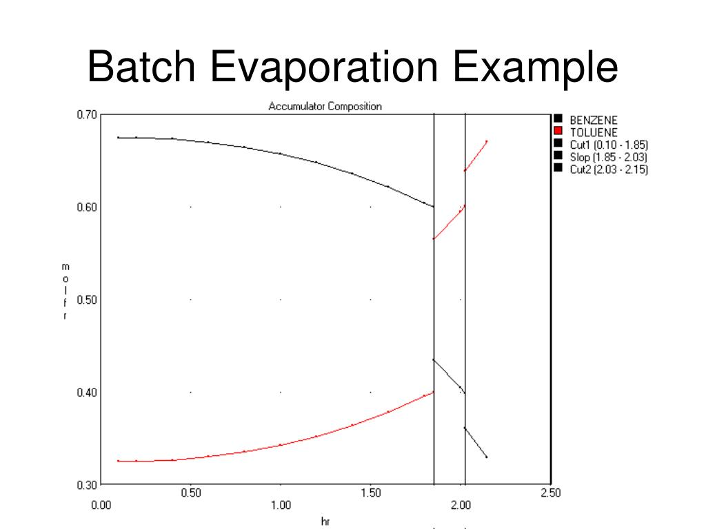 Batch Evaporation Example