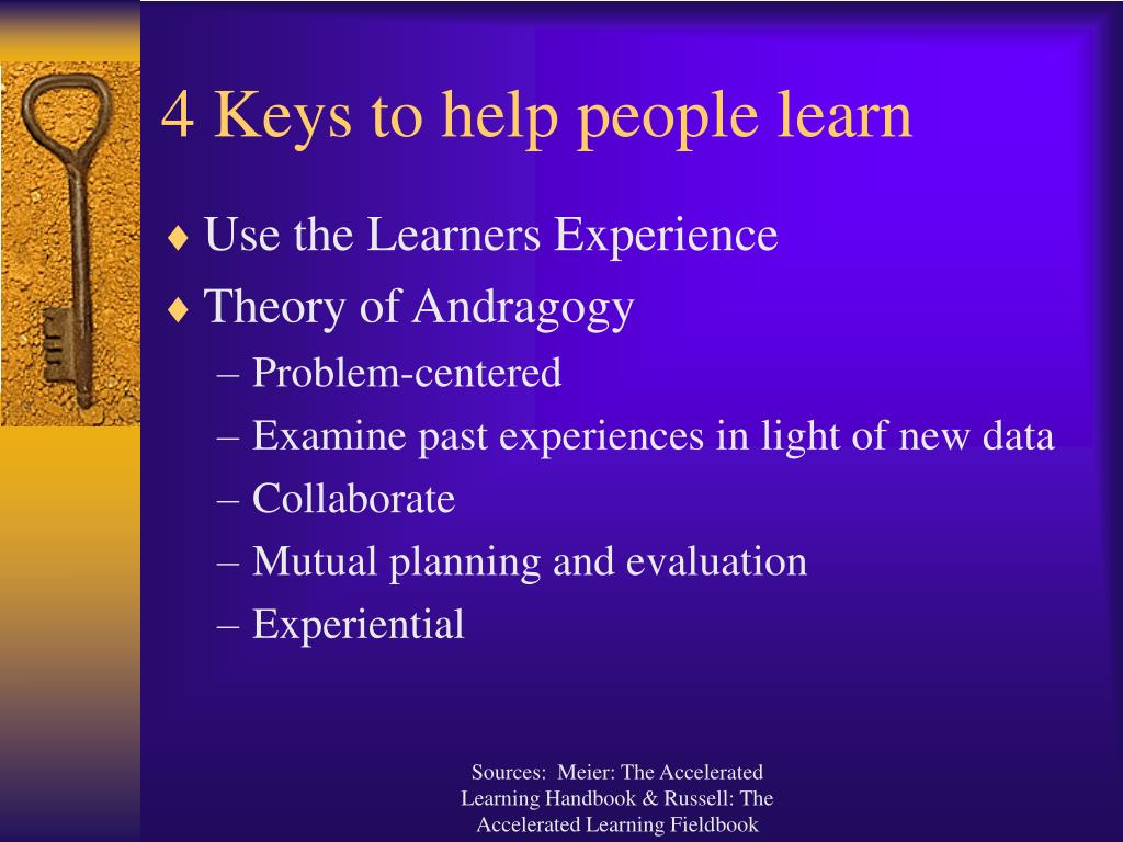 4 Keys to help people learn