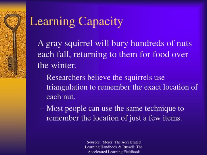 Learning capacity3