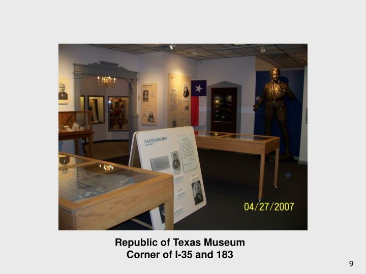 Republic of Texas Museum