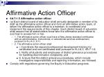 affirmative action officer