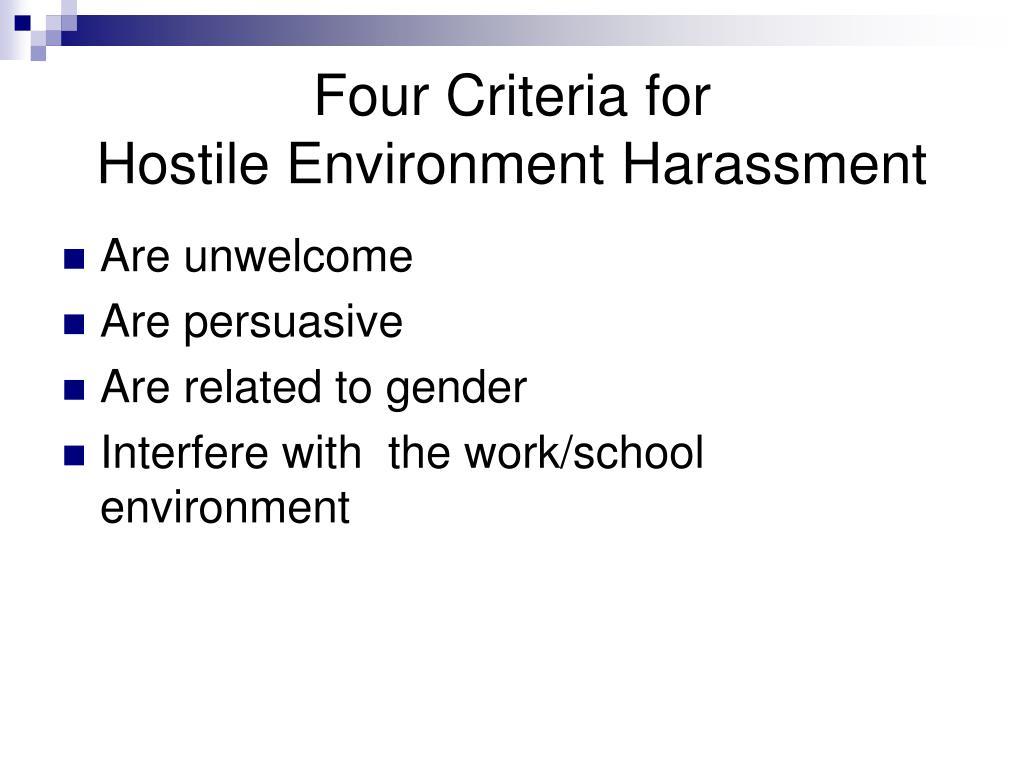 Four Criteria for