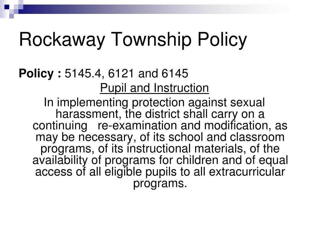Rockaway Township Policy