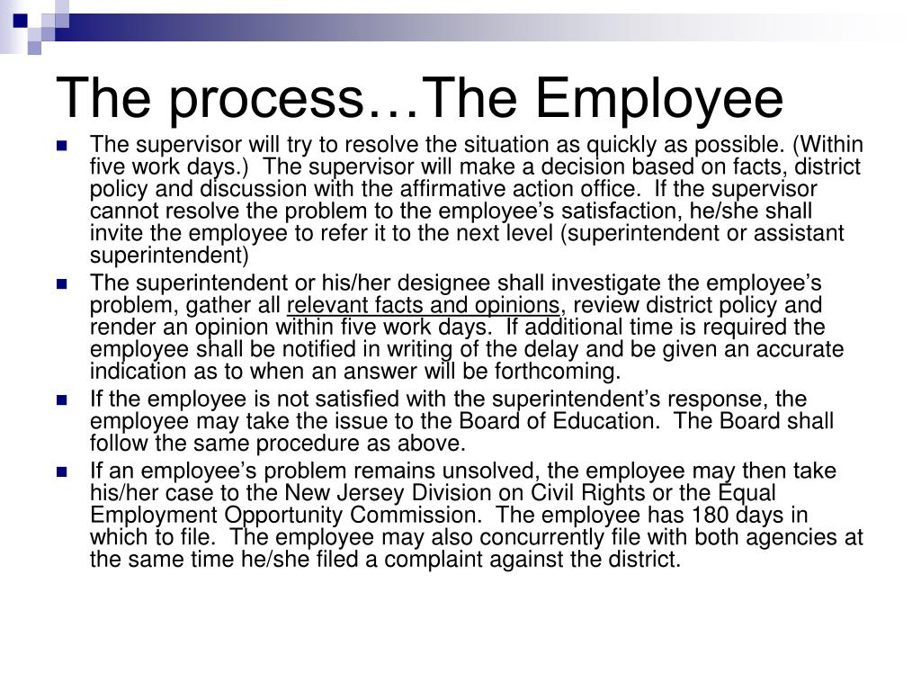 The process…The Employee