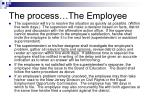 the process the employee