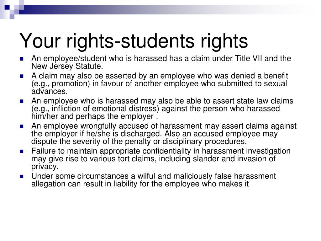 Your rights-students rights