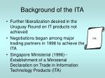 background of the ita