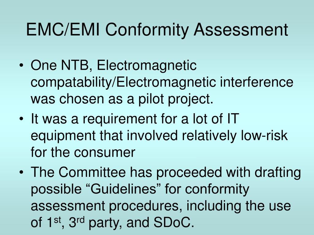 EMC/EMI Conformity Assessment
