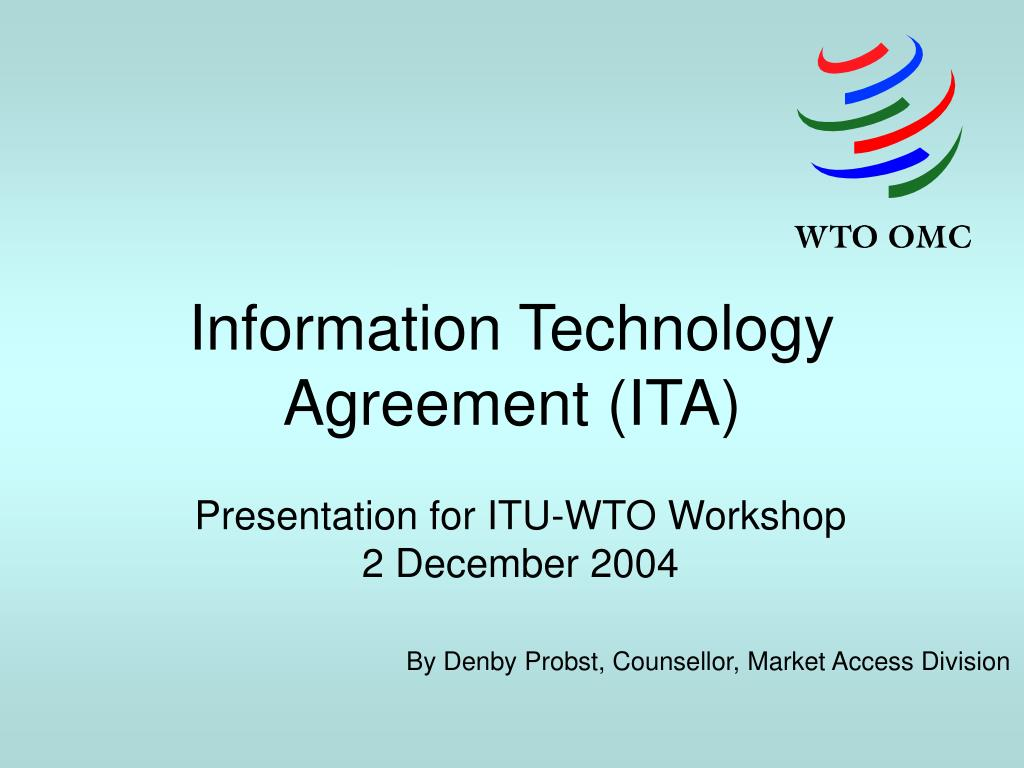 information technology agreement ita