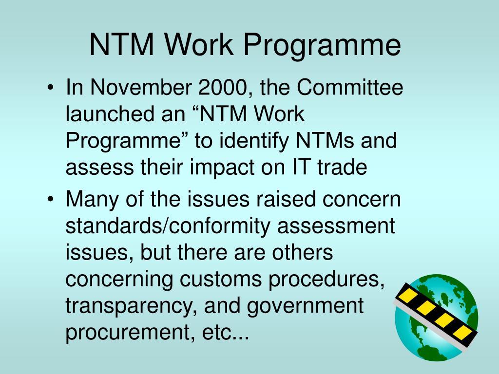 NTM Work Programme