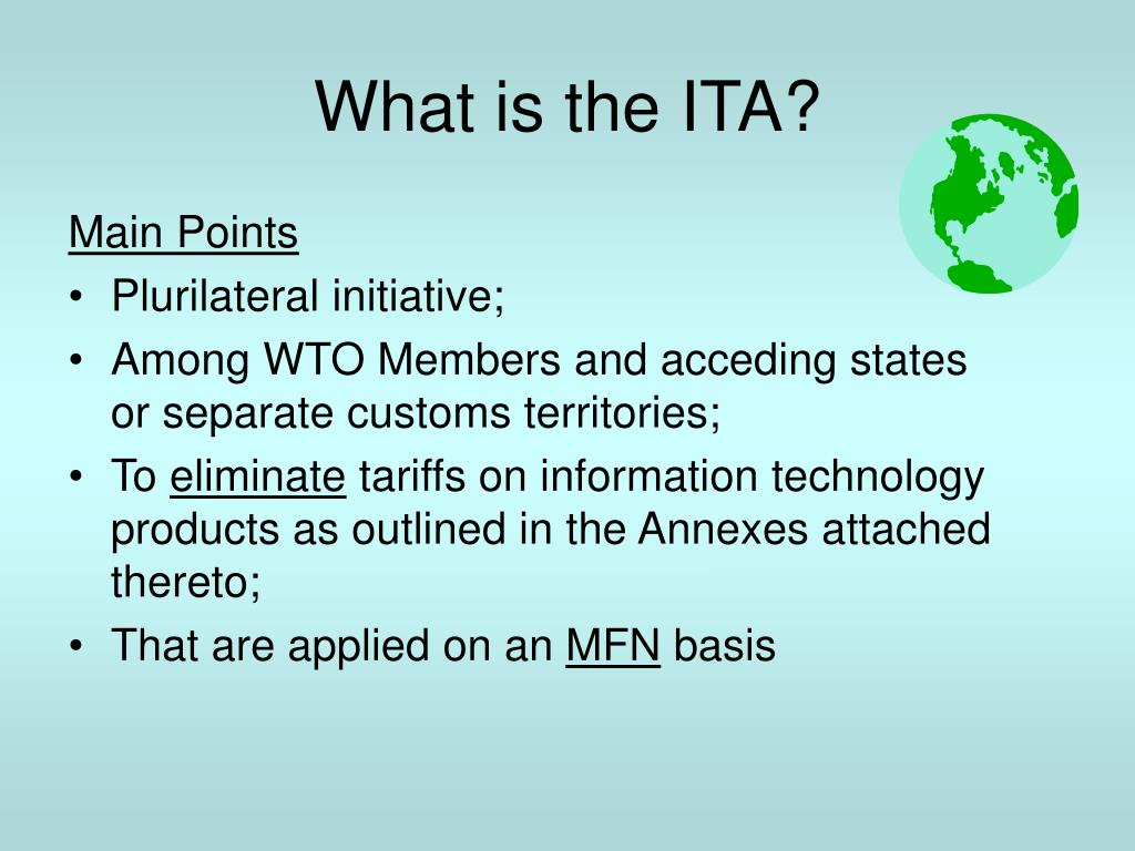 What is the ITA?
