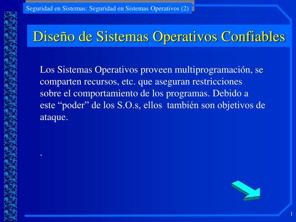 Diseño de Sistemas Operativos Confiables
