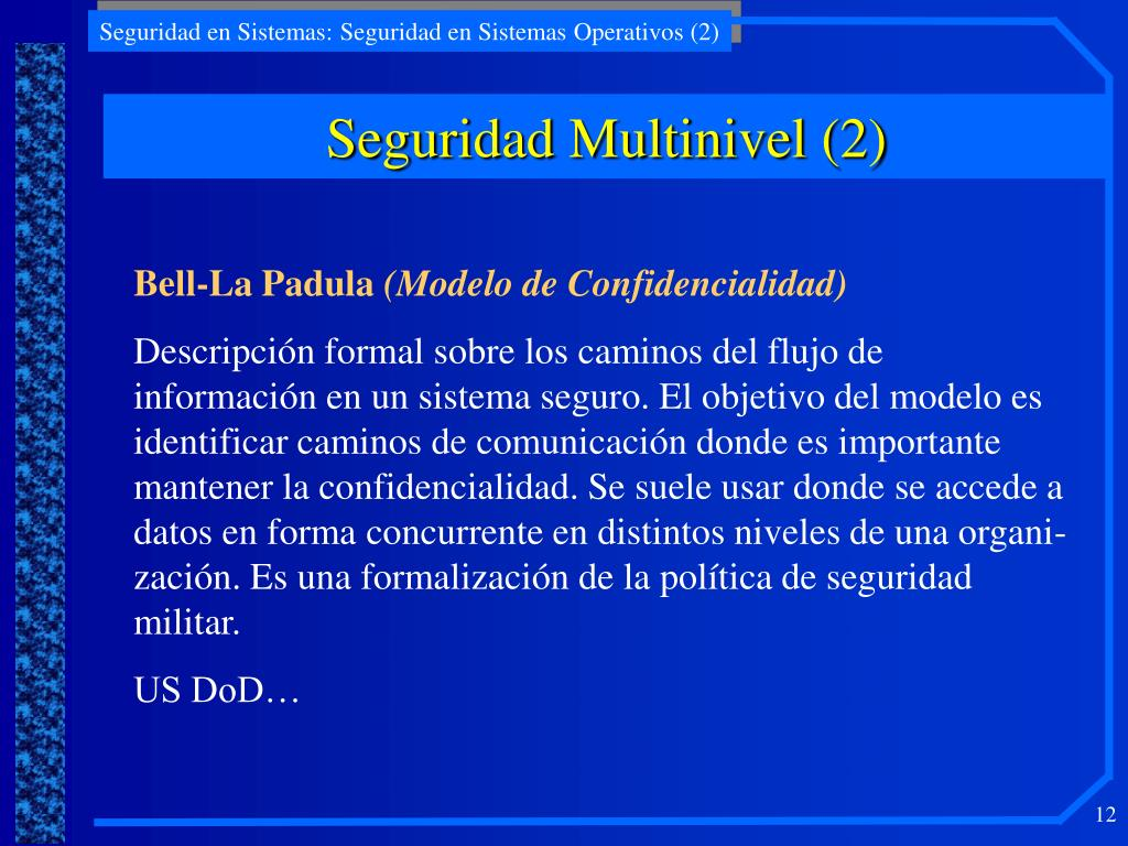 Seguridad Multinivel (2)