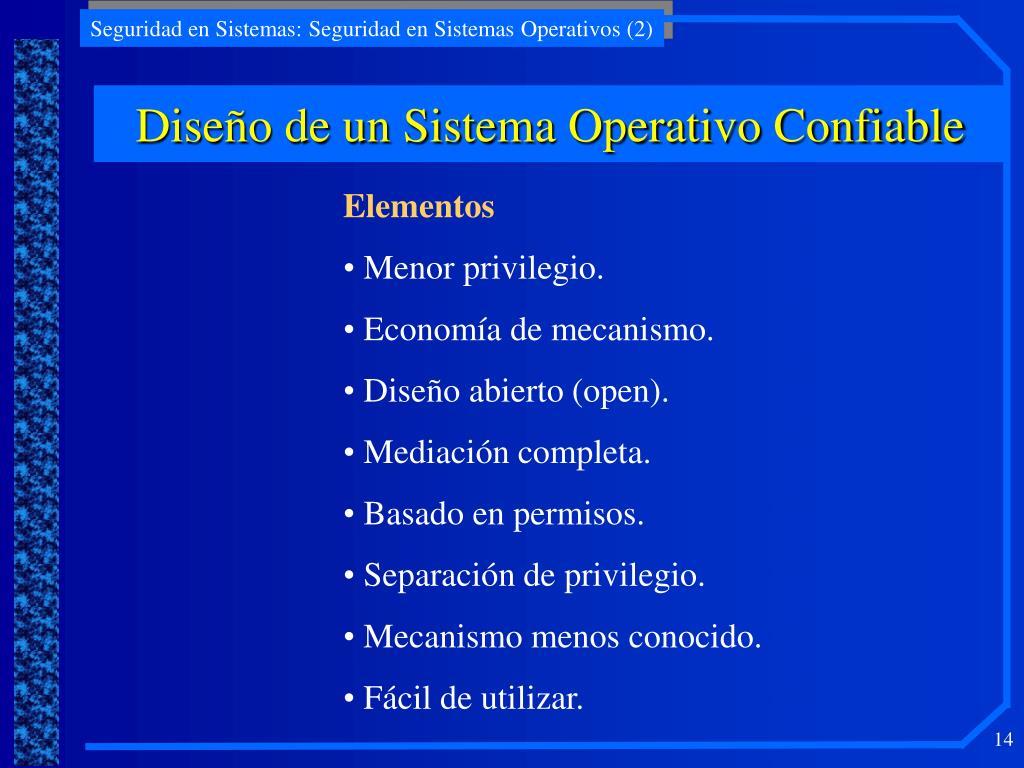 Diseño de un Sistema Operativo Confiable