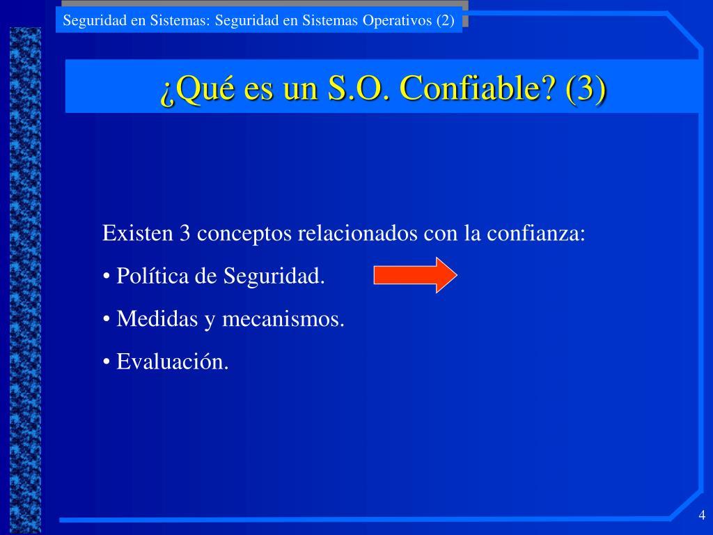 ¿Qué es un S.O. Confiable? (3)