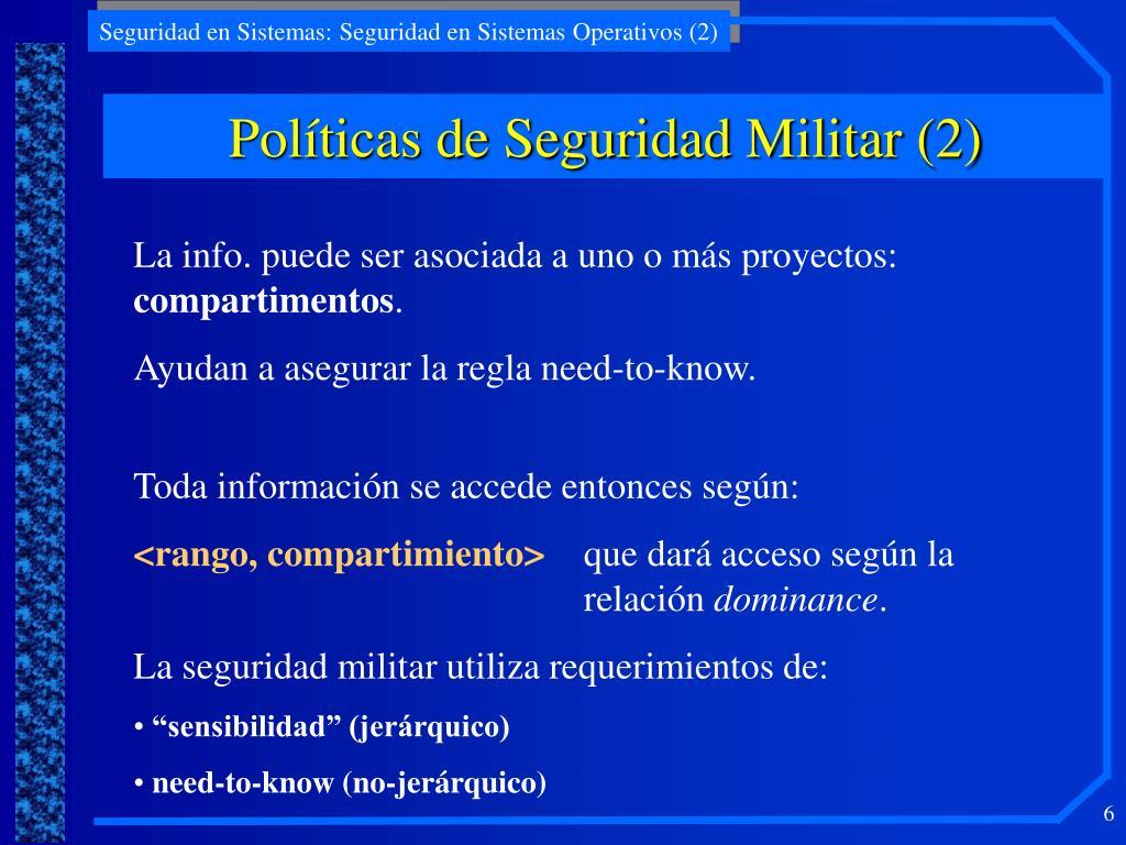 Políticas de Seguridad Militar (2)
