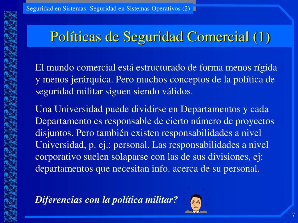 Políticas de Seguridad Comercial (1)