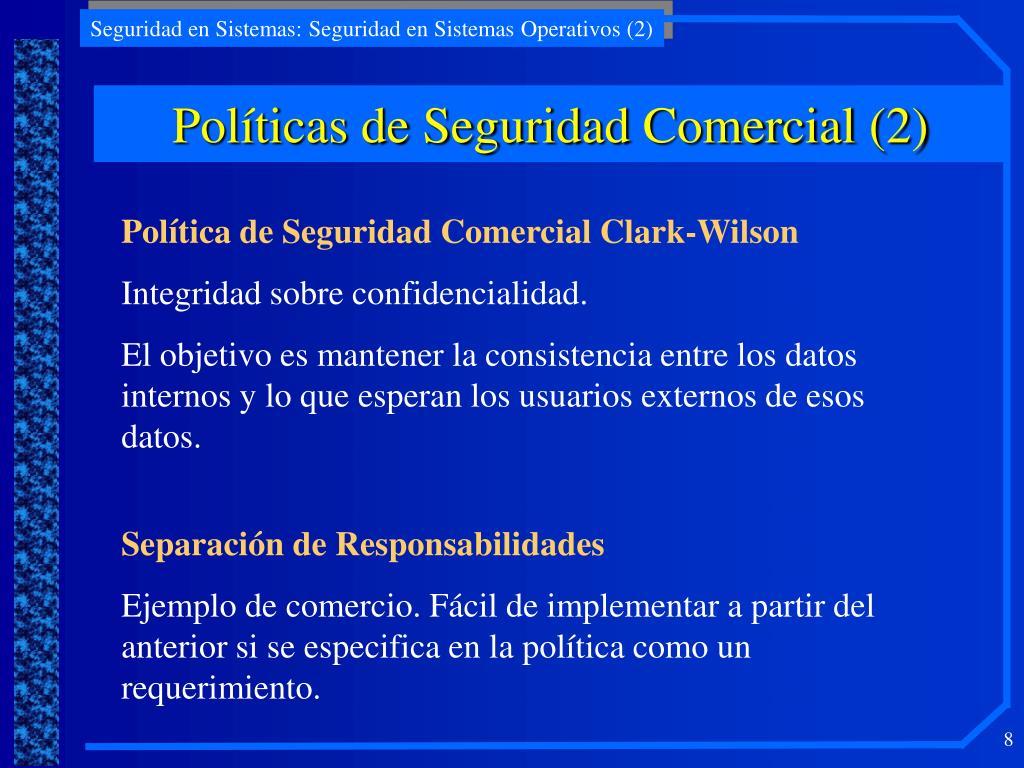Políticas de Seguridad Comercial (2)