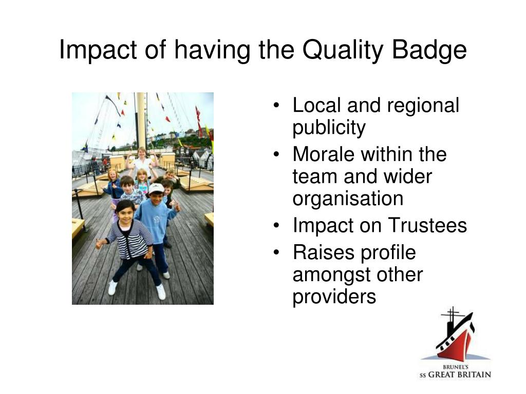 Impact of having the Quality Badge