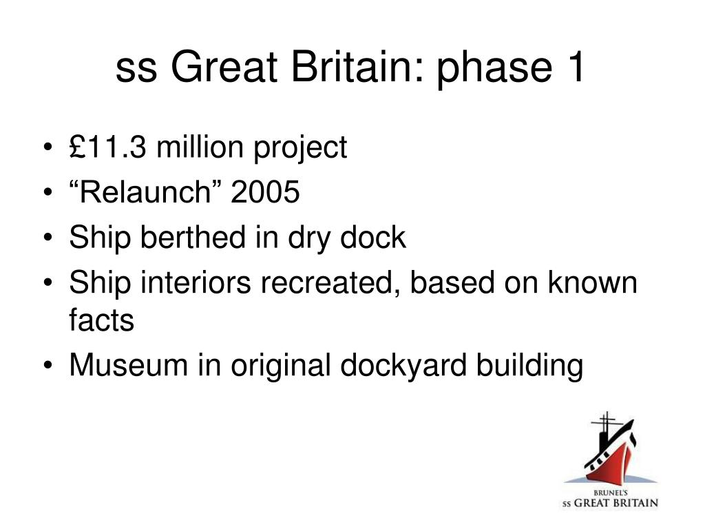 ss Great Britain: phase 1