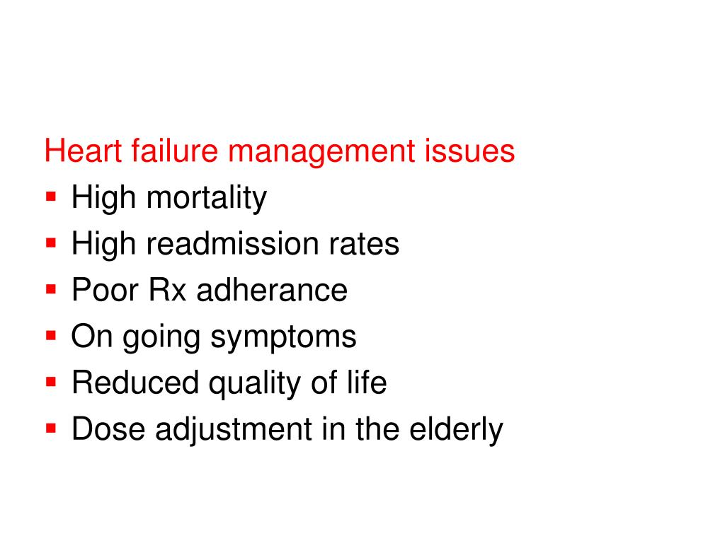Heart failure management issues