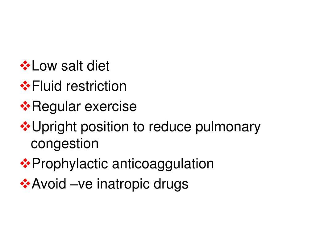 Low salt diet