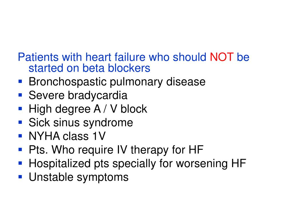 Patients with heart failure who should