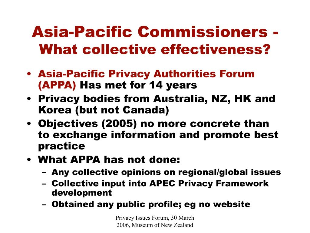 Asia-Pacific Commissioners -