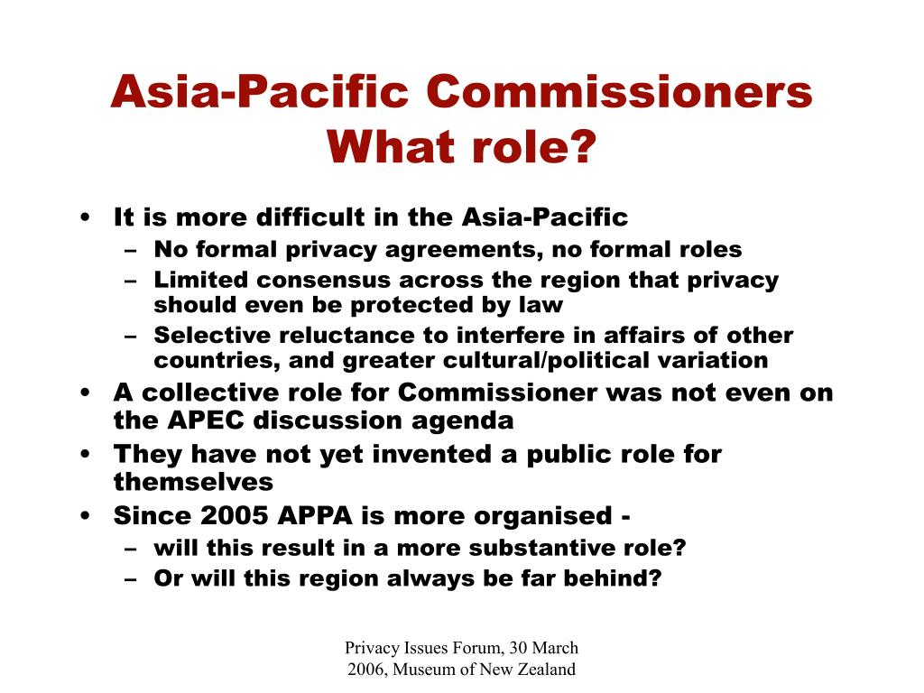 Asia-Pacific Commissioners