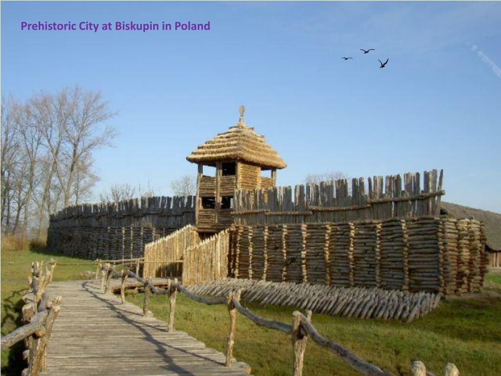 Prehistoric City at Biskupin in Poland