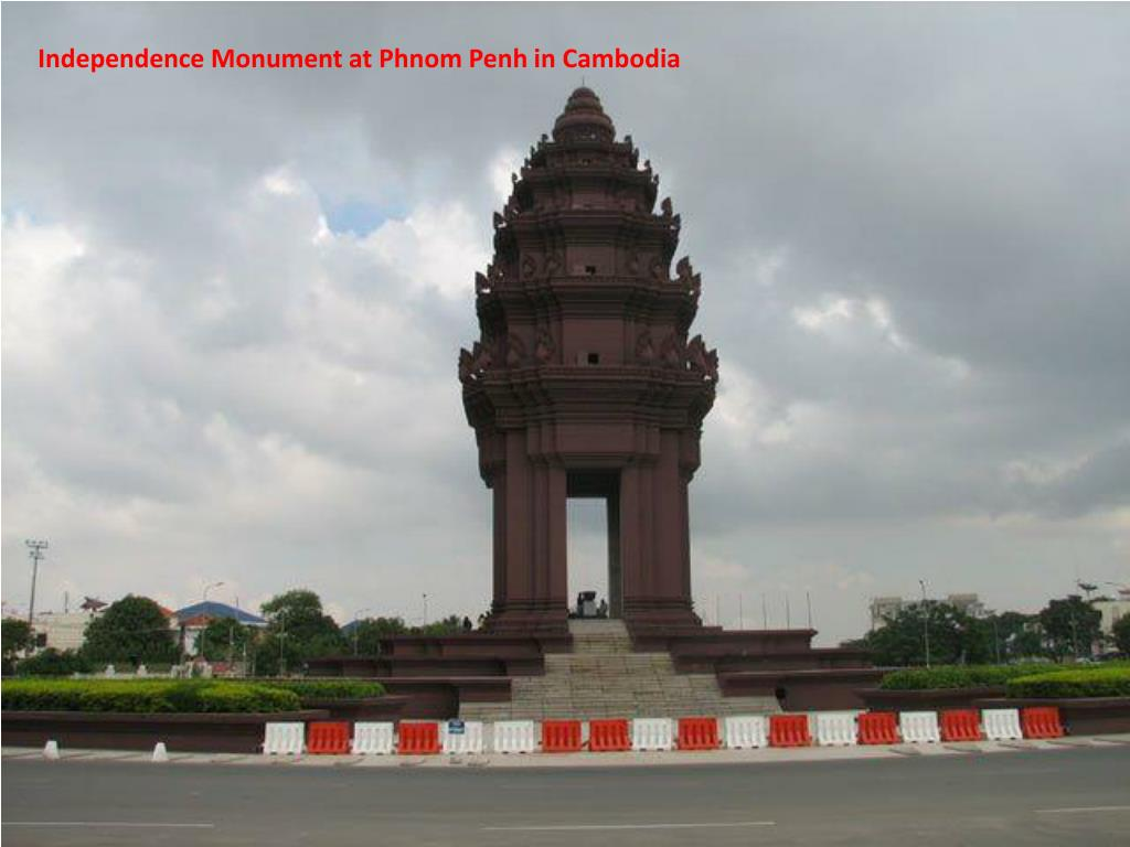 Independence Monument at Phnom Penh in Cambodia