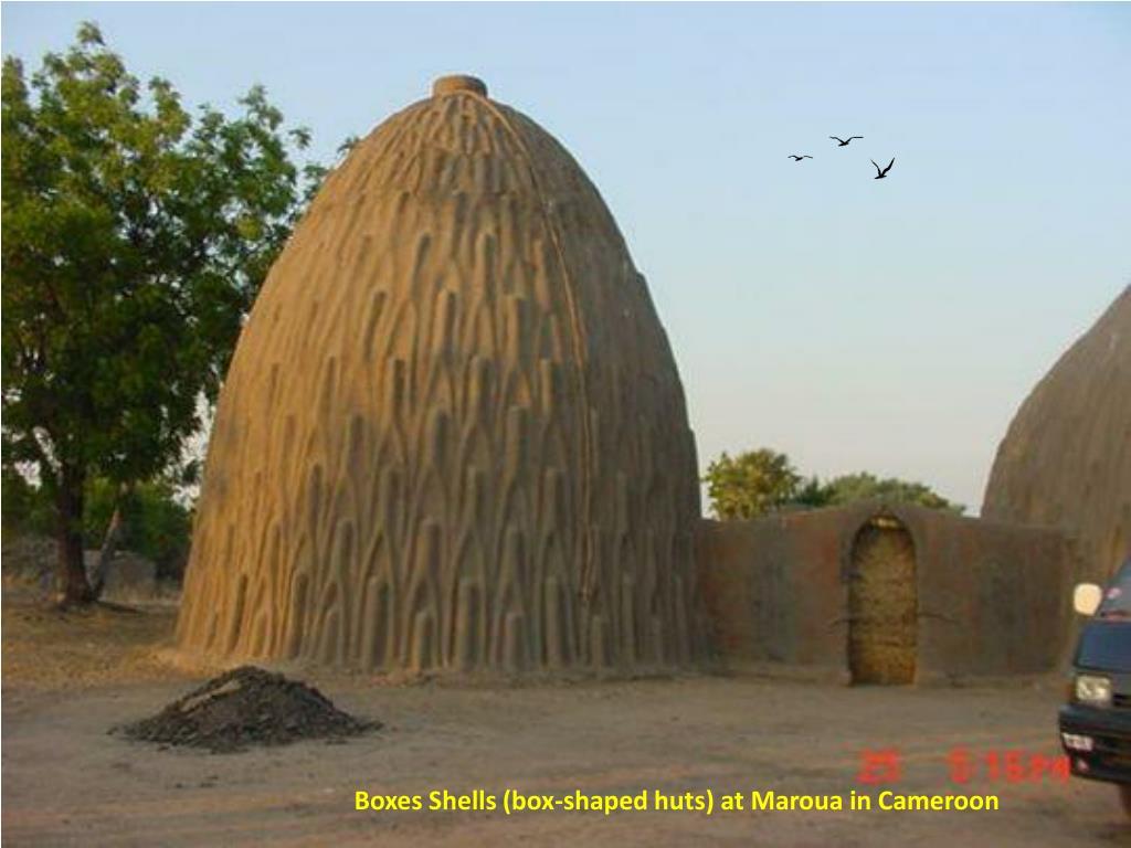 Boxes Shells (box-shaped huts) at Maroua in Cameroon