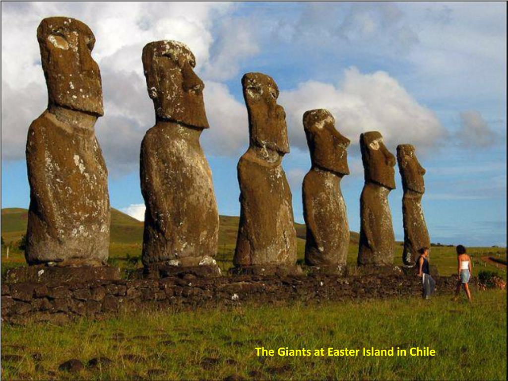 The Giants at Easter Island in Chile