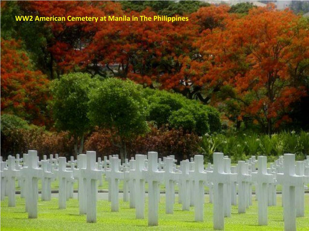 WW2 American Cemetery at Manila in The Philippines