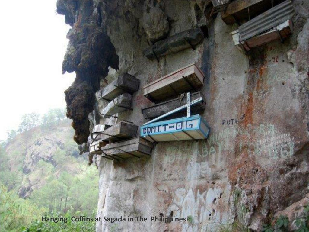 Hanging  Coffins at Sagada in The  Philippines