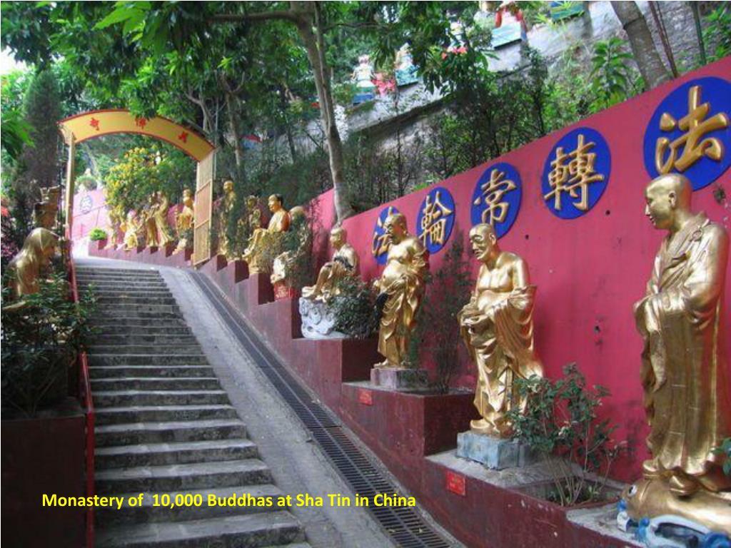 Monastery of  10,000 Buddhas at Sha Tin in China