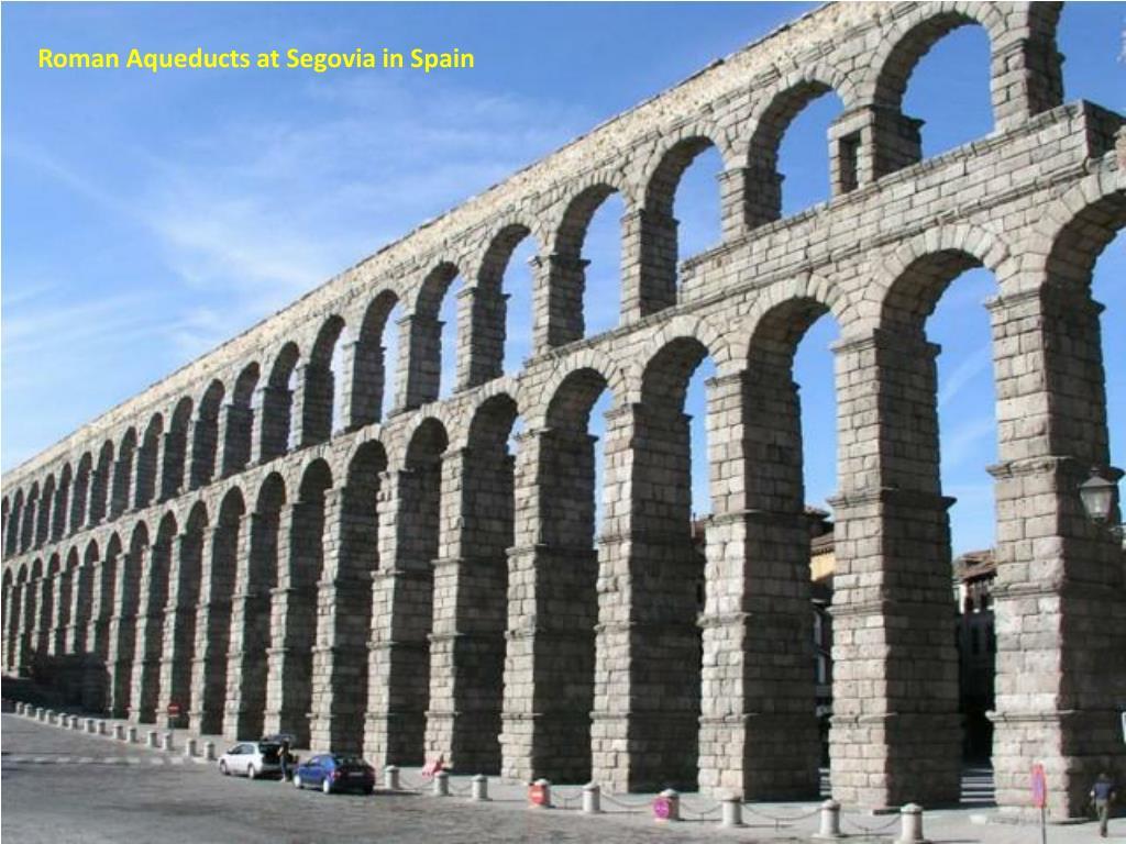 Roman Aqueducts at Segovia in Spain