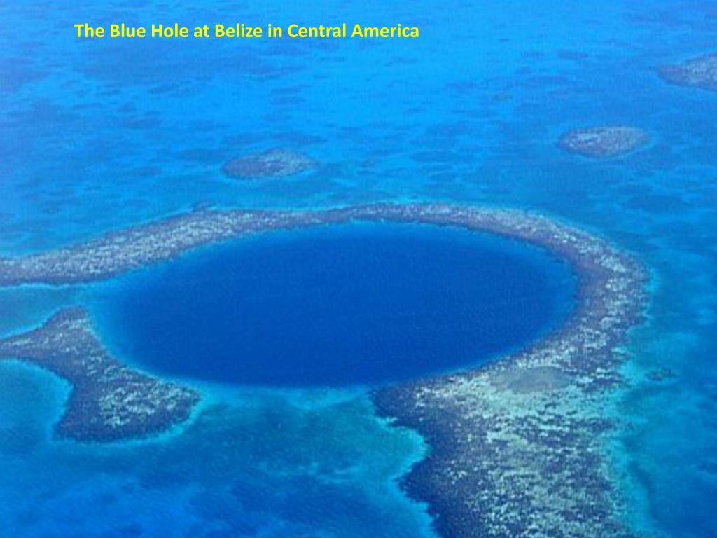 The Blue Hole at Belize in Central America