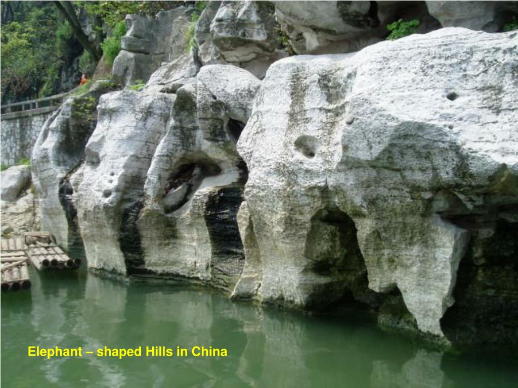 Elephant – shaped Hills in China