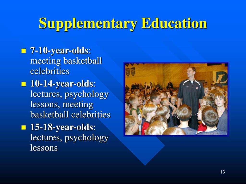 Supplementary Education