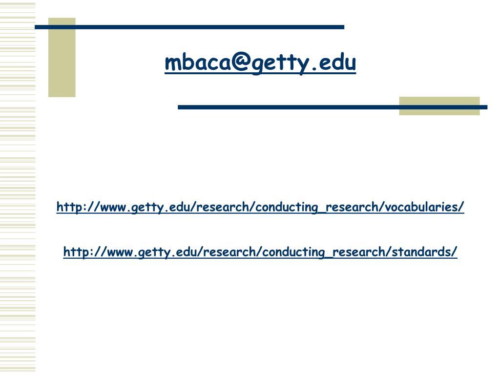 mbaca@getty.edu