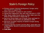 stalin s foreign policy