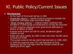 xi public policy current issues