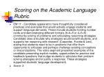scoring on the academic language rubric30